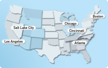US map-click cities